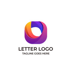 letter o design concept template vector image