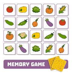 memory game for children cards with vegetables vector image