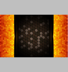 modern dark abstract background with shinny vector image