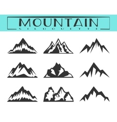 Mountain silhouette set vector image