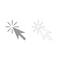 Mouse click the grey set icon vector
