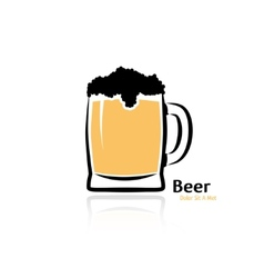 mug beer vector image