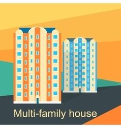 Multi-Family House Design Flat vector
