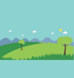 nature landscape summer background flat design vector image