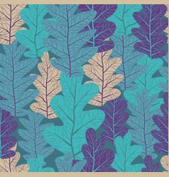 oak leaves pattern vector image