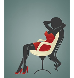 Office relaxing girl vector