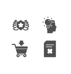 Online market idea and laureate icons delete vector