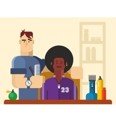 People in the Barber Shop vector image