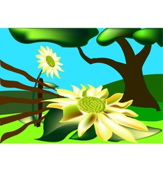 Picturesque scenery vector image