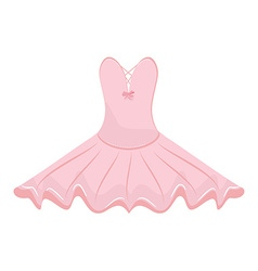 Pink ballet dress vector image