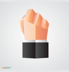 polygonal fist on white background vector image
