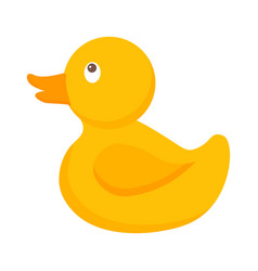 pretty yellow baby duck kids toys vector image