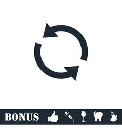 Recycle arrow icon flat vector
