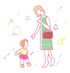 relationship between mother and daughter vector image