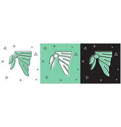 Set bandana or biker scarf icon isolated on white vector