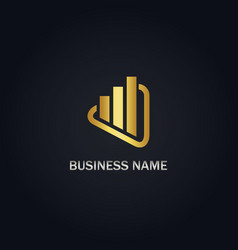 shape growth business company logo vector image