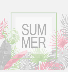 summer trendy tropical leaf design vector image