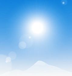 sun over mountains vector image