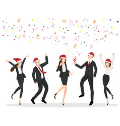 team worker christmas party in office vector image