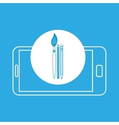 Tools student mobile device education vector