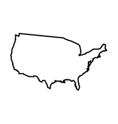 united states america map states vector image