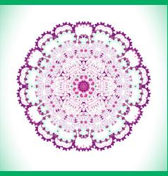 violet art mandala vector image