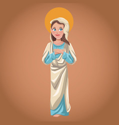 virgin mary spiritual sac image vector image