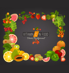 Vitamin c background vector