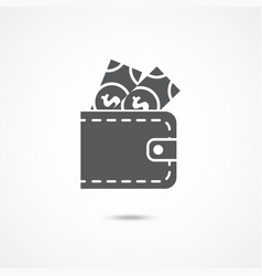 wallet icon on white vector image