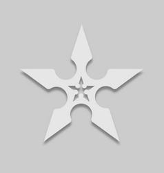 weapon icon for ninja shuriken vector image