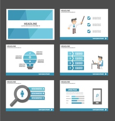 Businessman presentation templates infographic set vector image vector image