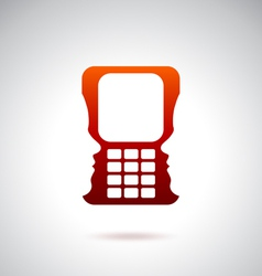Cell phone and technology over red vector image