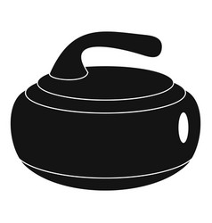 curling stone icon simple style vector image