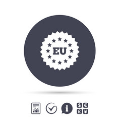 european union icon eu stars symbol vector image vector image
