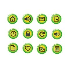 Green icon vector image vector image