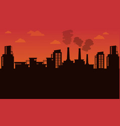 silhouette of industry landscape vector image
