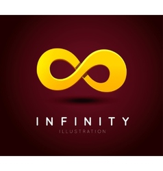 The symbol of infinity vector image vector image
