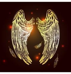 Wings of bird vector