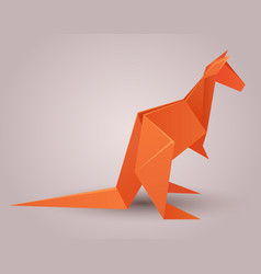 A paper origami kangaroo paper zoo elem vector