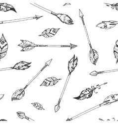 Hand drawn indian arrows seamless hippie vector image vector image