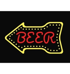Neon bar cocktail pub sign glowing street vector image vector image