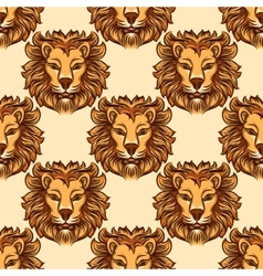 Seamless pattern with lion vector image vector image