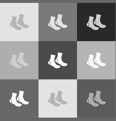 socks sign grayscale version of popart vector image