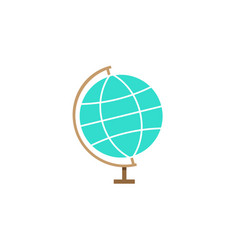 Globe flat icon school and education element vector