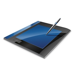 graphic tablet vector image vector image