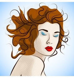 Portrait of creative fashion women vector image