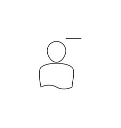 remove person line icon vector image