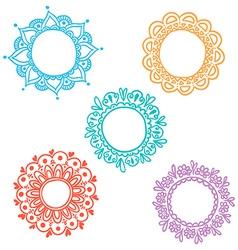 Set of doodle frames vector image
