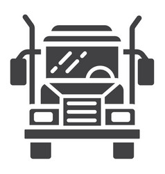 truck glyph icon transport and vehicle cargo vector image vector image