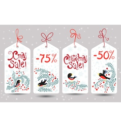 Winter sale tags vector image